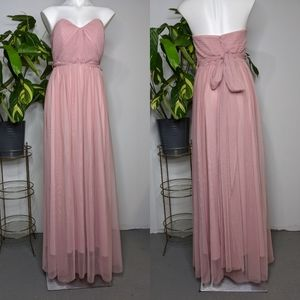 Birdy Grey blush pink bridesmaids dress M